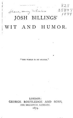 Josh Billings  Wit and Humor PDF