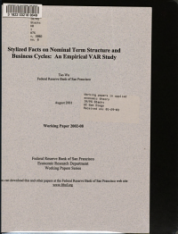 Stylized Facts on Nominal Term Structure and Business Cycles