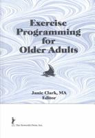 Exercise Programming for Older Adults PDF