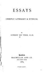 Essays, Chiefly Literary and Ethical