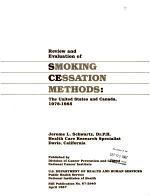 Review and Evaluation of Smoking Cessation Methods
