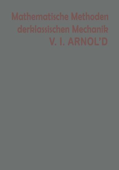 Mathematische Methoden der klassischen Mechanik PDF