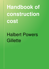 Handbook of Construction Cost