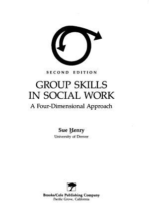 Group Skills in Social Work PDF