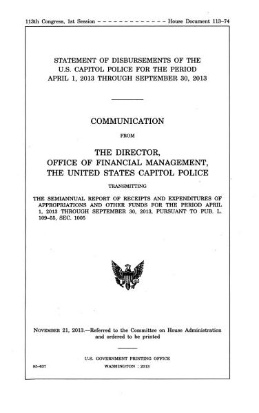 Statement of Disbursements of the U S  Capitol Police for the Period     PDF