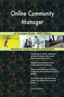 Online Community Manager A Complete Guide   2020 Edition PDF