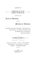 Lessons in Emphasis  Containing All the Rules of Emphasis PDF