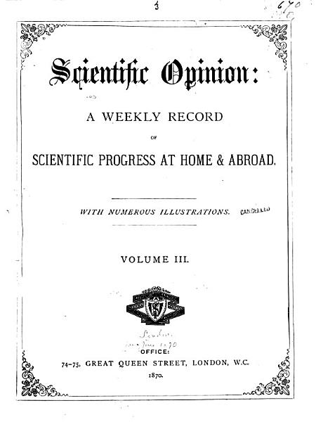 Download Scientific Opinion Book