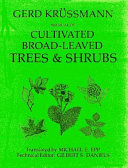 Manual of Cultivated Broad-leaved Trees and Shrubs