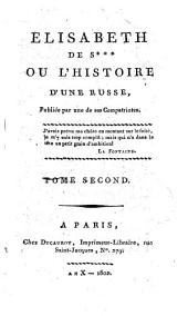 Elisabeth de S***, ou, L'histoire d'une Russe: Volume2