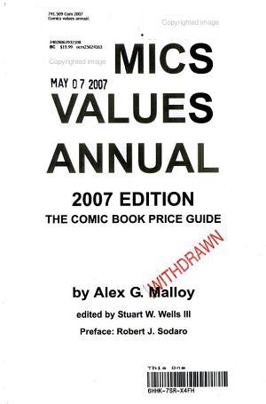 Comics Values Annual 2007 PDF