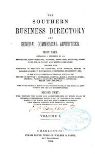 The Southern Business Directory and General Commercial Advertiser     PDF