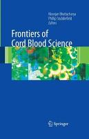Frontiers of Cord Blood Science PDF
