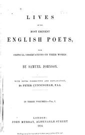 Lives of the Most Eminent English Poets: With Critical Observations on Their Works, Volume 2