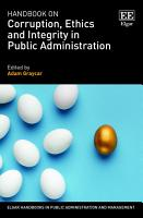 Handbook on Corruption  Ethics and Integrity in Public Administration PDF