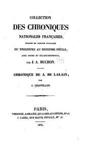 Chronique de Georges Chastellain: Chronique de J. de Lalain