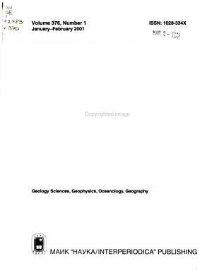 Doklady Earth Sciences PDF