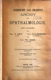Albrecht von Graefes Archiv für Ophthalmologie: Band 31,Ausgaben 1-2