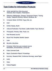 Epa National Publications Catalog Book PDF