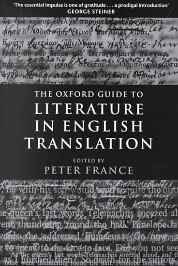 The Oxford Guide to Literature in English Translation PDF