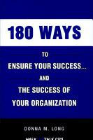 180 Ways to Ensure Your Success    and the Success of Your Organization PDF