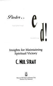 Pastor   Be Encouraged  PDF