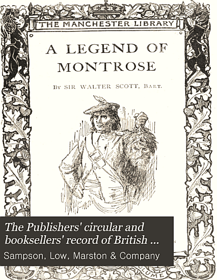 The Publishers  Circular and Booksellers  Record of British and Foreign Literature PDF