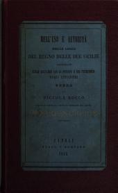 Dell'uso e autorità delle leggi del regno delle Due Sicilie considerate nelle relazioni con le persone e col territorio degli stranieri: ossia, Trattato di d[i]ritto civile internazionale