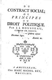 Du contract social; ou principes du droit politique