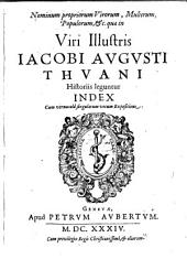 Jacobi Augusti Thuani Index in Thuanum