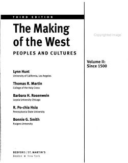 The Making of the West  Volume II  Since 1500 Book