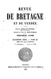 Revue de Bretagne, de Vendée & d'Anjou: Volume20