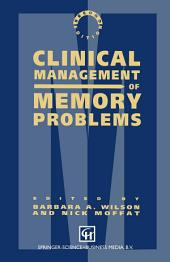 Clinical Management of Memory Problems