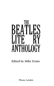 The Beatles Literary Anthology Book