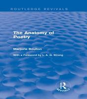 The Anatomy of Poetry  Routledge Revivals  PDF