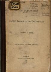 On 'os Colvmnatvm' (Plaut. M.G. 211) and Ancient Instruments of Confinement