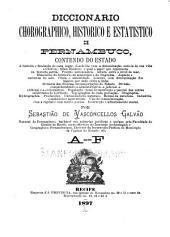 Diccionario chorographico, historico e estatistico de Pernambuco ...