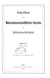 Schriften des Naturwissenschaftlichen Vereins für Schleswig-Holstein: Bände 6-8