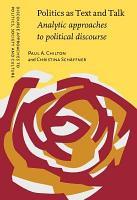 Politics as Text and Talk PDF