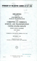 Oversight of the Motor Carrier Act of 1980 PDF