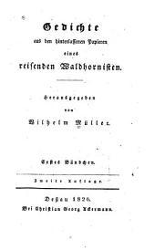 Gedichte aus den hinterlassenen papeiren eines reisenden Waldhornisten: Bände 1-2