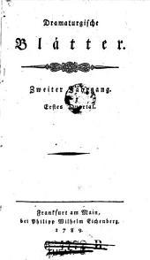 Dramaturgische Blätter (hrsg. von Alois Wilhelm Schreiber.)