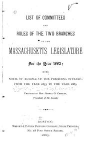 List of Committees of the General Court of Massachusetts