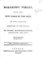 Makarony Fables; with The New Fable of the Bees