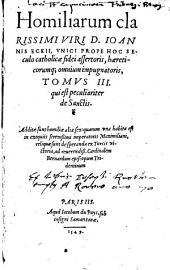 Homiliarum Doctiss. V. Ioannis Ecckii...