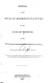 Journal of the House of the State of Missouri: Part 1