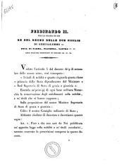 Ferdinando 2. per la grazia di Dio re del Regno delle Due Sicilie ..
