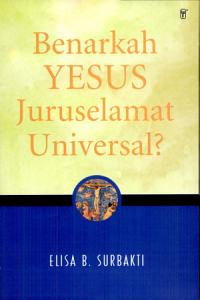Benarkah Yesus Juruselamat Universal   PDF