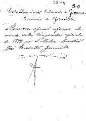 Establecimiento balneario de Graena, provincia de Granada: memoria oficial referente al mismo, de las temporadas oficiales de 1899