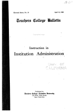 Instruction in Institution Administration